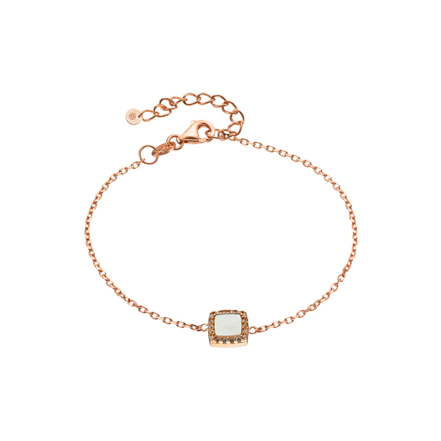 Woman's Bracelet Oxette Aurora Gifting Square-Mother Of Pearl