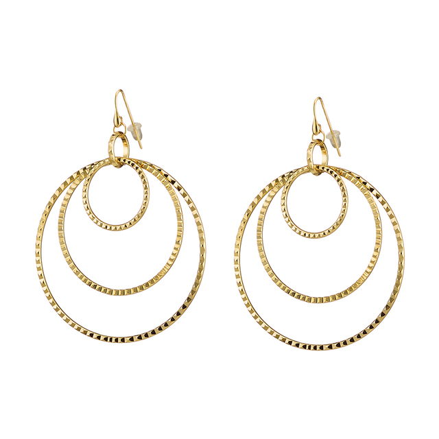 Woman's Earrings Oxette Heavy Metal Circles