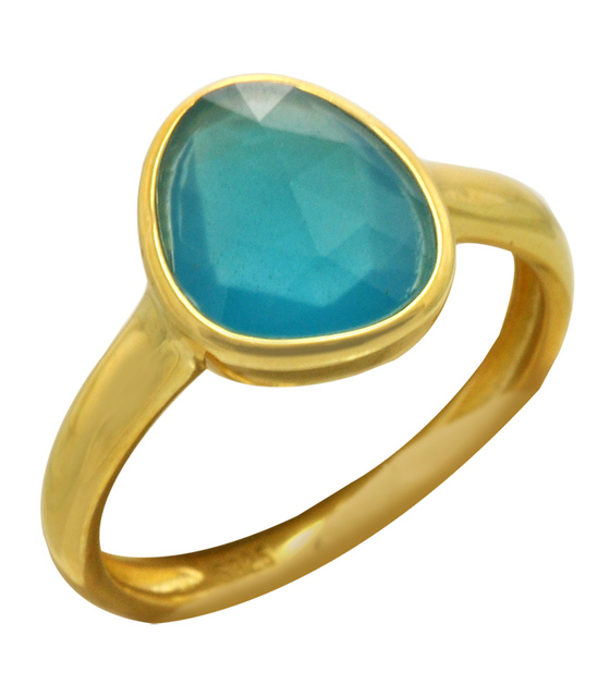 Woman's ring Oxette Blue Agate
