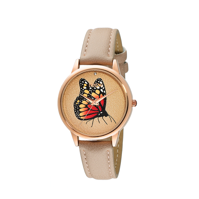 Woman's Loisir Fairytale Watch beige strap
