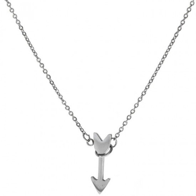 Woman surgical steel medium arrow necklace N-01500