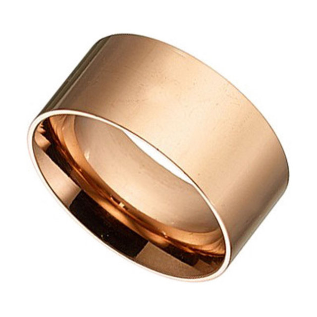Woman ring surgical steel pink gold N-02327R