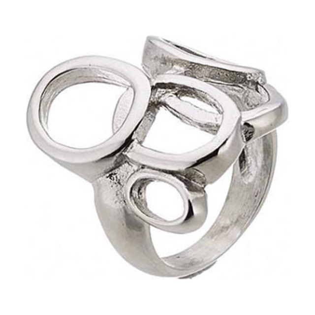 Woman ring surgical steel circles N-02235
