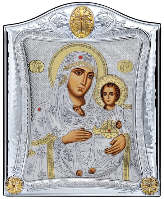 Icon Silver 925 Virgin Mary Of Jerusalem Prince Silvero  MA/E3402/2X