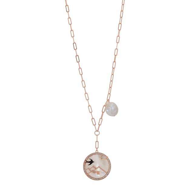 Woman necklace mother of pearl-bird Visetti