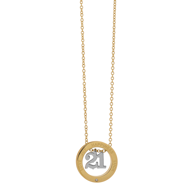 LUCKY CHARM NECKLACE-CIRCLE VISETTI SM-WKD2109SG