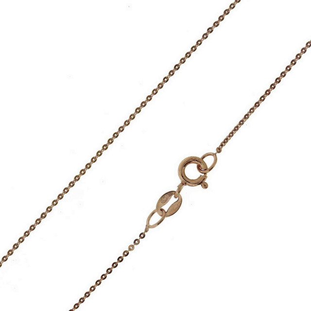 Chain silver 104100225.040 fortsetina 40cm pink gold plated 1mm