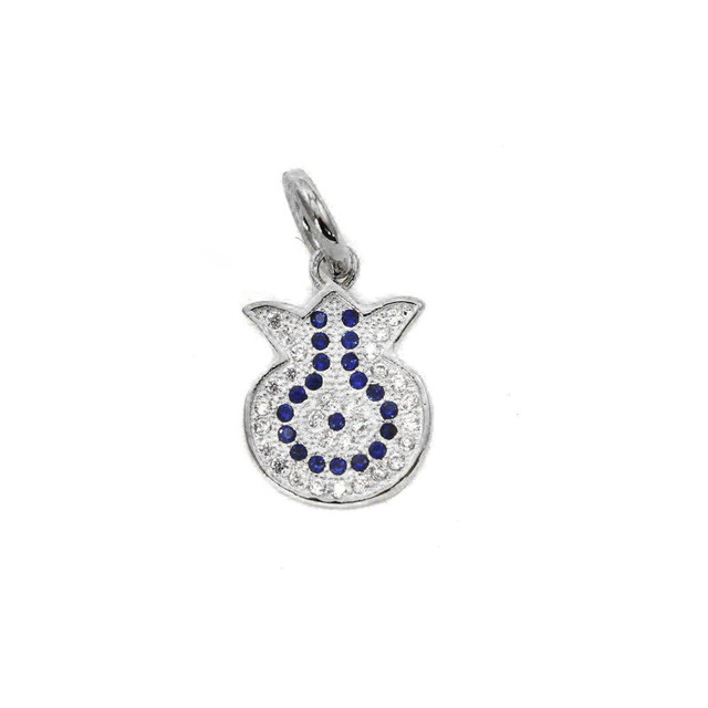 Charm Silver 925 Pomegranate Pendant With Zircon 105103143.104