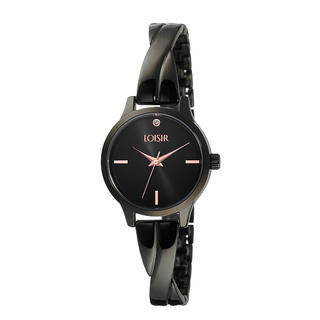 Woman's Loisir Twist Bangle Watch Black
