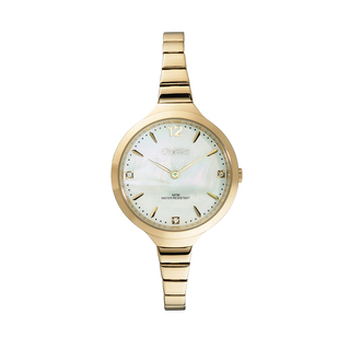 "Woman's Oxette ""Elegance"" Watch Bracelet-Gold plating"