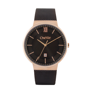 Unisex Watch Oxette Cosmic Brown Mesh Band
