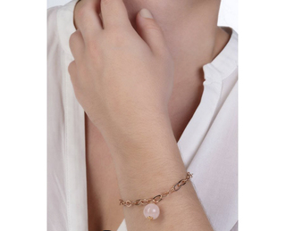 925 silver bracelet plated with rose gold and round stone Arteon 12543-000