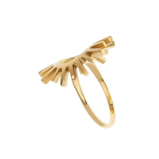 Ring Sun Silver 925 Gold Plated 23719 Arteon