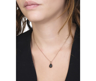 925 silver necklace with rose gold plating, chain and teardrop pendant with stones, Arteon 32307-046