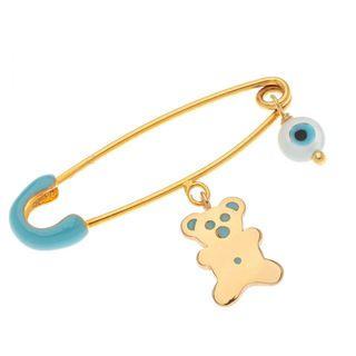 Children's safety pin silver 925, eye and teddy bear, Arteon 77560