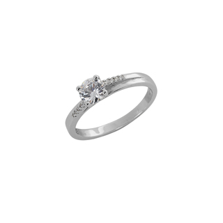 Ring Solitaire Silver 925  White Zircons 9C-RG052-1
