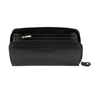 Woman wallet black leather  Visetti
