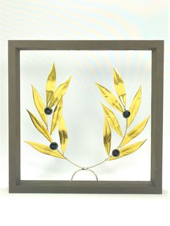 Olive open branch Frame  Brass ΝΜ13051
